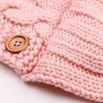 90 Points Nid d'ange en laine à boutons - Pour bébé de 0 à 12mois - Peut être mis dans une poussette de la marque 90 Points image 4 produit