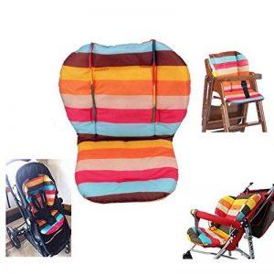 Amcho bébé Poussette/chaise haute/siège auto Coussin film de protection imperméable et respirant Pad (Rainbow Stripes) de la marque Amcho image 0 produit