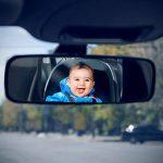 Aplic Banquette arrière miroir | Miroir Auto pour bébé Siège bébé | Miroir | Sécurité Miroir | Miroir de surveillance de voiture | Siège arrière bébé Miroir | 24,5x 17,5cm | Bretelles réglables/Universal Design | incassable | prise en main Ferme | Monta image 3 produit