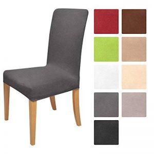 Beautissu Housse strech Mia pour chaise - 45x45cm - Elegante moderne - Coton - Bi-Elastique - OEKO-TEX - Gris de la marque Beautissu image 0 produit
