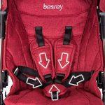 besrey Mini Poussette Canne système de voyage peut être prise dans l'avion et dans le train et être pliée dans quelques secondes, Bébé de 6 à 36 mois max 15 kg de la marque besrey image 3 produit