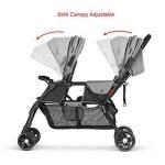 besrey poussette double de bébé pour 2 enfants d'âge rapprochés (les frères et sœurs) de 6 mois à 36 mois de la marque besrey image 3 produit