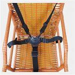 Chaise haute Sangles/Harnais, poussette, Harnais, 5points de bébé pour ceinture de sécurité, Landau Sangles de remplacement pour poussette (Noir) de la marque Wfortune image 2 produit