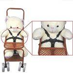 Chaise haute Sangles/Harnais, poussette, Harnais, 5points de bébé pour ceinture de sécurité, Landau Sangles de remplacement pour poussette (Noir) de la marque Wfortune image 1 produit