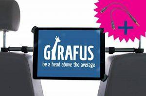 Girafus ®Relax H3 Universal Tablet Support appuie-tête de voiture pour banquette arrière tournant à 360° pour tablettes de 9,5-14,5 pouces Apple iPad/iPad PRO (9.7&12.9'')/Samsung GALAXY Tab PRO HTC, Asus de la marque Girafus Relax H3 image 0 produit