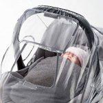 Habillage pluie confort universel pour tous types de sièges-autos bébé (Bébé Confort, Cybex, Recaro) | bonne circulation de l'air, fenêtre de contact, montage facile, ouverture de transport, sans PVC de la marque Zamboo image 2 produit