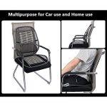 Homdsim siège de voiture chaise de bureau coussin de couverture de puce de bambou avec treillis métallique support lombaire lombaire, respirant maille noire fraîche avec sangle coussin de soutien de ventilation confortable pour tous les types sièges de vo image 3 produit
