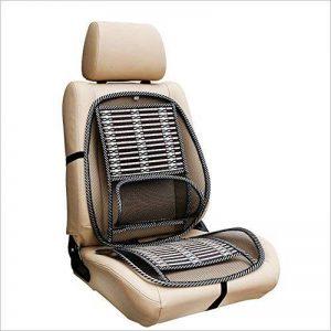 Homdsim siège de voiture chaise de bureau coussin de couverture de puce de bambou avec treillis métallique support lombaire lombaire, respirant maille noire fraîche avec sangle coussin de soutien de ventilation confortable pour tous les types sièges de vo image 0 produit