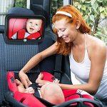 Home-neat Siège arrière miroir–vue arrière bébé Miroir de siège de voiture en bébé et maman–Large convexe en verre incassable et Entièrement assemblé–Crash testé et certifié pour la sécurité de la marque Home-Neat image 1 produit