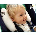 Inchant réglable Baby Soft Head Neck Support enfants enfants en bas âge Voyage voiture de sécurité Coussin Coussin de siège Forme Banane - Blanc de la marque Inchant image 1 produit