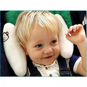 Inchant réglable Baby Soft Head Neck Support enfants enfants en bas âge Voyage voiture de sécurité Coussin Coussin de siège Forme Banane - Blanc de la marque Inchant image 0 produit