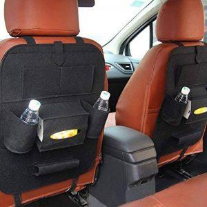 LeRan Organisateurs de Voiture Protection Arrière de Siège Auto pour Toutes Les Voitures (Noir, 2 packs) de la marque LeRan image 0 produit