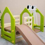 LittleTom Portique pour Petits Enfants 1-6 ans | Balançoire + Toboggan + Parois D'Escalade | Maison de Jeu avec 3 agrès | pour l'intérieur et l'extérieur de la maison | multicolor de la marque Omnideal image 4 produit