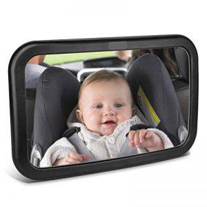 Miroir Auto Bébé, Topist 360 ° Rotatif Miroir Bébé Voiture, Miroir de Voiture pour Bébé Rétroviseur de Surveillance pour Siège Arrière de la marque Topist image 0 produit