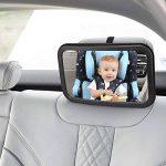 Miroir Auto Bébé, Topist 360 ° Rotatif Miroir Bébé Voiture, Miroir de Voiture pour Bébé Rétroviseur de Surveillance pour Siège Arrière de la marque Topist image 1 produit
