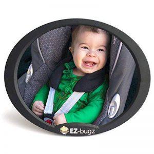 Miroir de voiture pour bébé, rétroviseur ajustable pour siège auto orienté vers l'arrière, surveiller votre enfant installé sur la banquette arrière, par EZ-Bugz de la marque EZ-Bugz image 0 produit