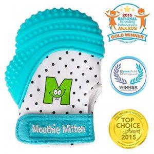 Mouthie Mitten - Moufle mitaine de dentition en silicone - différent coloris de la marque Mouthie Mitten image 0 produit