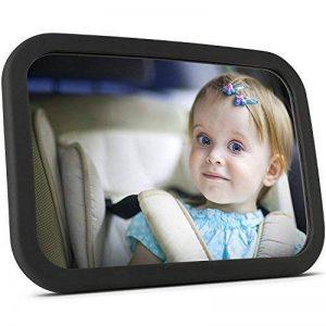 OMorc Miroir Auto Bébé Rétroviseur de Surveillance Bébé pour Siège Arrière Miroir de Voiture pour Bébé en Sécurité avez une Rotation 360° de la marque OMORC image 0 produit