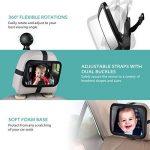 OMorc Miroir Auto Bébé Rétroviseur de Surveillance Bébé pour Siège Arrière Miroir de Voiture pour Bébé en Sécurité avez une Rotation 360° de la marque OMORC image 2 produit