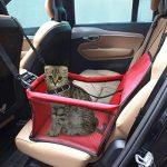 Pet Carrier,Colourstone Taille L Pet Car Mat Porte-voiture pour Chien pour Ensemble pour chat / Ceinture / siège d'appoint Sac de voyage Porte-cage Fourre-tout pour chenil Facile à plier Taille L Poids jusqu'à 240 Ounce(Rouge) de la marque Colourstone image 1 produit