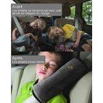 Rovtop 3 en 1 Oreiller Amovible+Voiture Ceinture de Sécurité+ Coussinets d'Epaule de Voiture Adaptateur Ceinture Securite Enfant Coussin Support de Cou Amovible Auto Voiture de la marque Rovtop image 1 produit