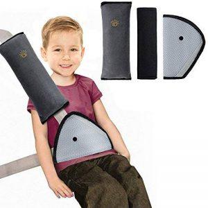 Rovtop 3 en 1 Oreiller Amovible+Voiture Ceinture de Sécurité+ Coussinets d'Epaule de Voiture Adaptateur Ceinture Securite Enfant Coussin Support de Cou Amovible Auto Voiture de la marque Rovtop image 0 produit