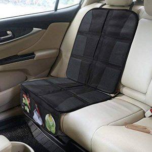 rovtop Protecteur de siège de voiture anti-dérapant avec organiseur poches Taille Universelle pour les sièges de voiture de bébé (Noir) de la marque Rovtop image 0 produit