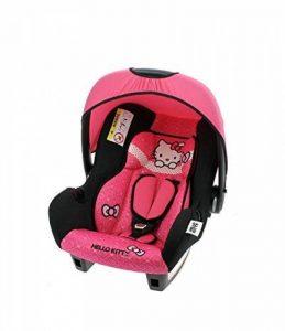 Siège auto bébé Hello Kitty Groupe 0+ de 0 à 13 kg - Fabrication 100% Française - 4 étoiles Test TCS - Protections latérales - Cale tête confort et assise rembourrés de la marque Mycarsit image 0 produit