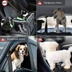 Siège d'appoint de voiture pour chats de chats, housse de siège imperméable respirante avec laisse de sécurité, petit sac de transporteur de voiture de voyage de chiot de chien par Zellar de la marque Zellar image 1 produit
