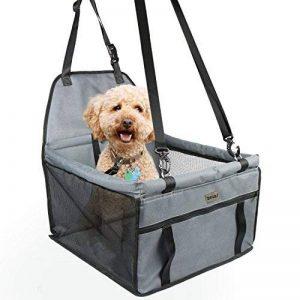 Siège d'appoint de voiture pour chats de chats, housse de siège imperméable respirante avec laisse de sécurité, petit sac de transporteur de voiture de voyage de chiot de chien par Zellar de la marque Zellar image 0 produit