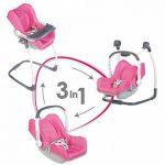 Smoby 240227 - Bébé Confort - Chaise Haute 3 en 1 - Chaise Haute Balancelle et Siège Auto de la marque Smoby image 3 produit