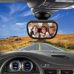 TedGem Bébé Vue Arrière Miroir, Miroir Auto Bébé Rétroviseur de Surveillance Bébé pour Siège Arrière Miroir de Voiture pour Bébé en Sécurité avez une Rotation de la marque TedGem image 3 produit