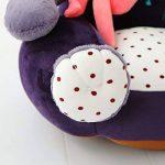 VERCART Canapé enfant Fauteuil pour Garçon Fille Chaise rembourrée Coussin de Sol Pouf Bébé 45CM en Coton Siège Enfant Doux Confortable Animal Décoration pour la Chambre d'enfant Panda Violet de la marque VERCART image 3 produit